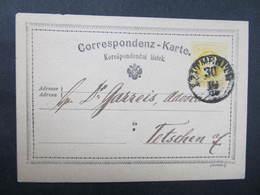 GANZSACHE Leitmeritz - Tetschen 1874 Korrespondenzkarte ////  D*35948 - Briefe U. Dokumente