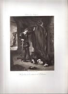 Gravure -E. Delacroix (Hamlet Et Le Cadavre De Polonius) -procédé Et Imp. Georges Petit - Engravings