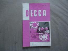 DECCA DISQUES HIVER N° 1 CATALOGUE 12 PAGES - Musique & Instruments