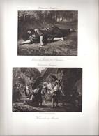 Eau-forte Eugène Delacroix (procédé Et Imp. Georges Petit) -jésus Au Jardin Des Oliviers & Hercule Et Alceste - Engravings