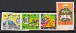 South Vietnam - 1975 - N°Yv. 522 à 525 - Development - Non Dentelé / Imperf. - Neuf Luxe ** / MNH / Postfrisch - Viêt-Nam