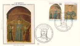 FDC VATICANO 15-5-1992 PIERO DELLA FRANCESCA MORTE RESURREZIONE DI CRISTO. - FDC