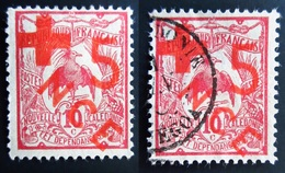 1915 Nouvelle Calédonie Yt 110 Kagu (Rhynochetos Jubatus) Neuf Sur Charnière Et 1 Oblitéré - Nouvelle-Calédonie