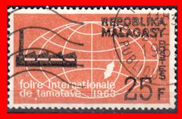MALAGASY - MADAGASCAR …. SELLO AÑO 1963 .. FACTORY AND GLOBE - Madagascar (1960-...)