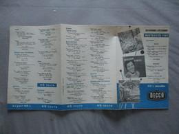 DISQUES DECCA NOVEMBRE-DECEMBRE NOUVEAUTES 1957 - Musique & Instruments