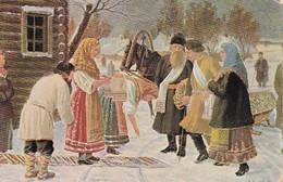 AK Ansichten Und Typen Aus Russland - Feldpost Landst.-Batln. Forbach - Selwa - 1917 (38444) - Europa