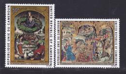 CAMEROUN AERIENS N°  245 & 246 ** MNH Neufs Sans Charnière, TB (D8036) Tableaux De Noêl - 1975 - Cameroun (1960-...)