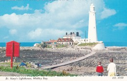 Postcard St Mary's Lighthouse Whitley Bay [ Bamforth ] My Ref  B12726 - Lighthouses