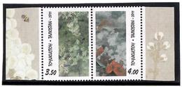Tajikistan.2011 Apricot Blossom. Pair Of 2v: 3.50, 4.00    Michel # 577-78 - Tadschikistan