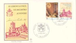 FDC VATICANO 1993 Filagrano Unif. 953 Assisi Per La Pace In Europa. - FDC