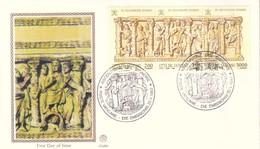 VATICANO - 1993 - Ascensione Del Signore - Trittico Su FDC Filigrano. - FDC