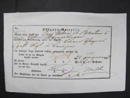 Aufgabsrecepisse Jägerndorf ROT!! 1850 ////  D*35972 - 1850-1918 Imperium