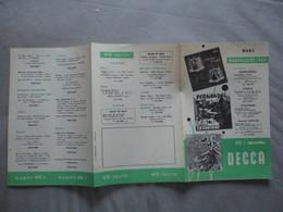 DISQUES DECCA MARS NOUVEAUTES 1957 - Musique & Instruments