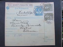 Postbegleitadresse Grossdorf B. Braunau 1915 Broumov Velka Ves  Paketschein ////  D*35975 - 1850-1918 Imperium