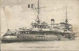 """"""" Le Carnot """",  Cuirassé D'Escadre à Tourelles. (scan Verso) - Guerre"""