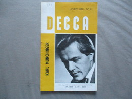 DISQUES DECCA HIVER 1956 N° 2  12 PAGES  KARL MUNCHINGER - Musique & Instruments
