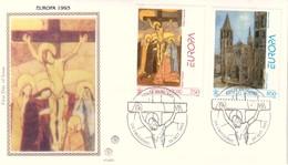 FDC VATICANO 1993 Filagrano Unif. 971/2 Europa Arte Contemporanea. - FDC