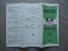 DISQUES DECCA DECEMBRE 1953 N° 3 MEDIUM PLAY - Musique & Instruments