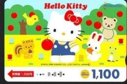 MANGA * Carte Prépayée Japon * Comics * CHAT * HELLO KITTY  (971)  CAT Japan Prepaid Card * Katze Karte * - Fumetti