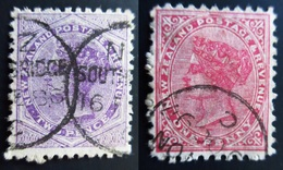 1882 New Zealand Yt 60, 61 . 1 Penny . 2 Penny . Oblitérés Used - 1855-1907 Colonie Britannique