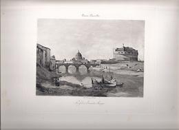 Gravure, Impression Georges Petit: Camille Corot (Le Fort Saint-Ange) - Engravings