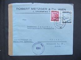 BRIEF Wien - Praha 1947 Zensur 616 ////  D*35988 - 1945-60 Briefe U. Dokumente