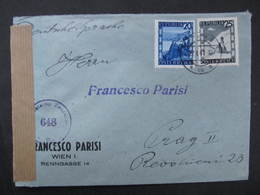 BRIEF Wien - Praha 1947 Zensur 648 ////  D*35989 - 1945-60 Briefe U. Dokumente