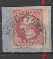 Hannover 1864 - Effigie 1 G. Su Frammento Con Numero (piegato) - Hanovre