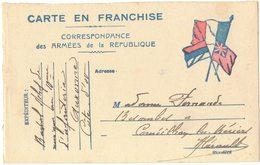 MILITARIA GUERRE 14/18 Correspondance Armées Drapeau HERAULT CORNEILHAN SP 10 Poilu BARRAL Infanterie AUXONNE Musique - War 1914-18
