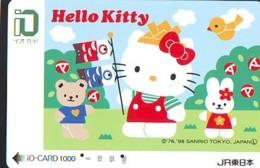 MANGA * Carte Prépayée Japon * Comics * CHAT * HELLO KITTY  (1000) I.O. * JR * CAT Japan Prepaid Card * Katze Karte * - Fumetti