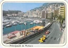 ** Lot De 2 Cartes ** SPORT AUTOMOBILES Rallyes - GRAND PRIX De MONACO Montée Av. D'Ostende Et Place Du Casino CPM GF - Rallyes