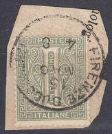 ITALIA - 1863 - Yvert 12 Usato Su Frammento Di Busta, Come Da Immagine. - Usati