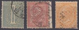ITALIA - 1863 - Lotto Di Tre Valori Usati: Yvert 12, 13 E 15, Come Da Immagine. - 1861-78 Vittorio Emanuele II