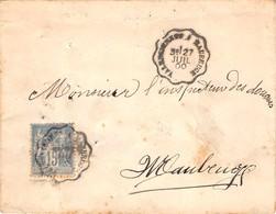 CONVOYEUR LIGNE - VALENCIENNES A MAUBEUGE  - 1900 - Posta Ferroviaria