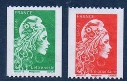 5255 5256 Roulettes Marianne L'Engagée Yseult YS Lettre Verte + Prioritaire (2018) Neuf** - 2018-... Marianne L'Engagée