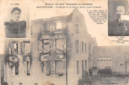 54 - BADONVILLER - Guerre De 1914 - La Maison De M. Benoît, Maire, Après L'incendie - Autres Communes