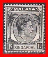 SINGAPUR SELLO AÑO 1948 1C BLACK - KING GEORGE V - Singapur (1959-...)
