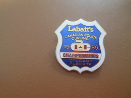Insigne à épingle/ Curling/ Canada / Labatt's/ Canadian Police/Championships/ CALGARY/Alberta/1989    SPO341 - Deportes