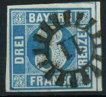 BAYERN QUADRATE Nr 2II GMR -11 Zentrisch Gestempelt X87592A - Bavaria