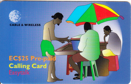ST. VINCENT & THE GRENADINES - Beach Bar, C&W Prepaid Card EC$25(SVD-14), Exp.date 06/02, Used - San Vicente Y Las Granadinas