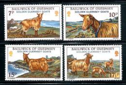 """Gurensey    """"Golden Goats""""""""     Set    SC# 209-12   MNH - Guernsey"""