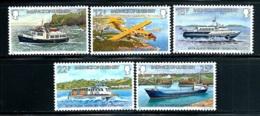 "Gurensey    ""Interisland Transportation""""     Set    SC# 227-31  MNH - Guernsey"