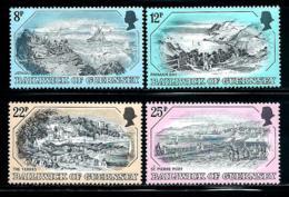 """Gurensey    """"Print""""     Set    SC# 236-39  MNH - Guernsey"""
