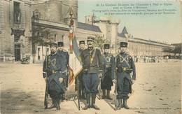 """CPA CHASSEUR ALPIN """"Vincennes, Le Glorieux Drapeau Des Chasseurs Alpins"""" - Regiments"""