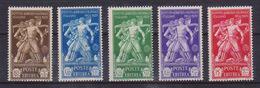 COLONIE ITALIANE  1930  ERITREA PRO ISTITUTO AGRICOLO SASS. 174-178 MNH XF - Eritrea