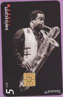 Télécarte Suisse °° SE.101. Jazz Saxo - 5CHF - Gem2 - 06.2001 - R. - Suisse