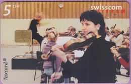 Télécarte Suisse °° SE.77. Violoniste - 5CHF - Gem8 - 08.2000 - R. - Suisse