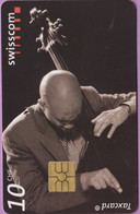 Télécarte Suisse °° SE.102. Jazz Contrebasse - 10CHF - Gem2 - 06.2001 - R. - Suisse