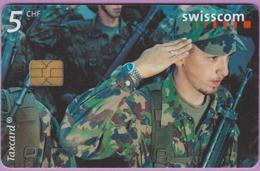 Télécarte Suisse °° SE.74A. Militaires - 5CHF - CL2 - 05.00-05.03 - R. - Suisse
