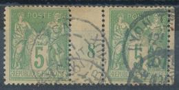 N°102 PAIRE  MILLESIME - 1898-1900 Sage (Type III)